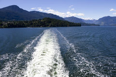 Howe Sound Ferry Wave Stock Image