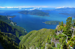Howe Sound i British Columbia Arkivfoton