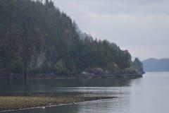 Howe Sound Küstenlinie stockbilder