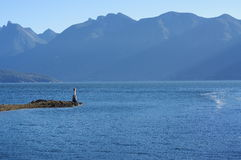 Howe Sound and  the North Shore Mountains Royalty Free Stock Photo