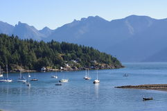 Howe Sound and the North Shore Mountains royalty free stock images