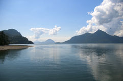 Howe Sound. From Sea to Sky Highway Stock Images