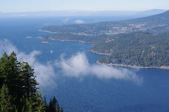 Howe Sound and sunshine coast Royalty Free Stock Image