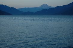Howe Sound View. Howe Sound-layers of blue, BC. August 2012 Stock Photography