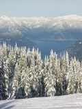 Howe Sound in winter. View from Cypress Mountain- Vancouver - site of 2010 olympics Stock Images