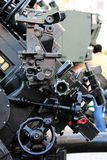 Howitzer artillery Detail. Close up view detail of an Anti-aircraft artillery type howitzer Royalty Free Stock Photo