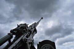 Howitzer in memorial complex, Belarus royalty free stock images
