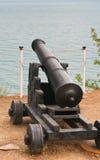 Howitzer cannon. Ancient  howitzer cannon .Ukraine-Crimea Royalty Free Stock Photo