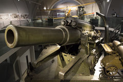 Howitzer cannon in a museum Stock Photos