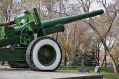 Howitzer-gun parts Stock Photo