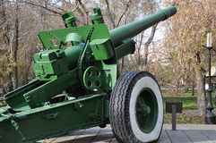 Howitzer-gun parts Stock Photography