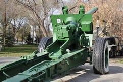 Howitzer-gun parts Royalty Free Stock Photo