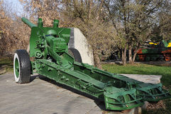 Howitzer-gun parts Stock Image