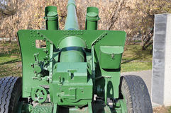 Howitzer-gun parts Stock Image