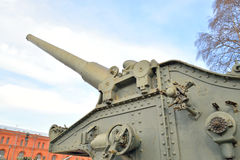 Howitzer in Military Historical Museum of Artillery. Royalty Free Stock Photo