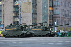 Howitzer msta-s Στοκ Φωτογραφία