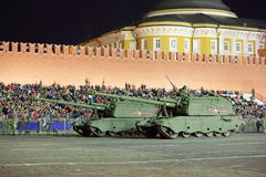 Howitzer msta-s Στοκ Εικόνες