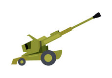 Howitzer Vector Illustration in Flat Design Stock Photography