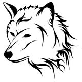 Howling wolf vector illustration Stock Image