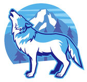 Howling wolf Royalty Free Stock Photography