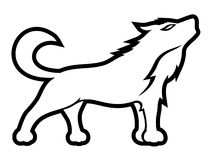 Howling wolf. stock illustration