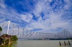 Howrah bridge on the Ganga. Kolkata in India Stock Photos