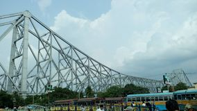 Howrah Bridge. Journey to somewhere remains on with its calm atmosphere stock images