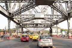 Howrah Bridge in Kolkata Royalty Free Stock Photo