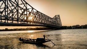 Howrah bridge at the time of Sunrise stock photo