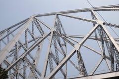 Howrah bro i Kolkata Royaltyfri Bild