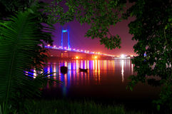 Howrah through the Forest cover Royalty Free Stock Photos