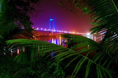 Howrah through the Forest cover Royalty Free Stock Image