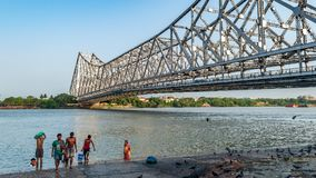 Howrah Hooghly lub mosta most zdjęcia stock