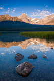 Howse Peak and Waterfowl Lake in Banff National Park, Alberta, C Royalty Free Stock Photo