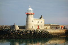Howth港口灯塔,都柏林地区,爱尔兰 库存图片