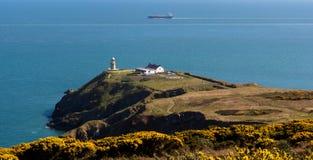 Howth, графство Fingal, Ирландия Сценарный взгляд маяка Baily на Howth Стоковые Фото