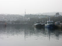 Howth Boats - Dublin, Ireland. Boats on a foggy day in Howth, Dublin Royalty Free Stock Images