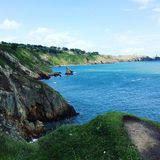 Howth cliff stock photography
