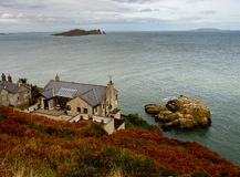 Howth Cliffs. Ireland. Small house on a Cliffs near Howth town. Ireland Royalty Free Stock Photo