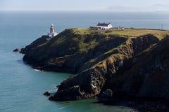 Howth, condado Fingal, Irlanda - vista del faro de Baily Imágenes de archivo libres de regalías