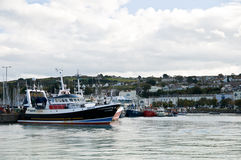 Howth, Dublin. The view of the Howth harbour, near Dublin, Ireland Stock Image