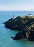 Howth, Grafschaft Fingal, Irland- - Baily-Leuchtturm an einem sonnigen Nachmittag lizenzfreies stockbild