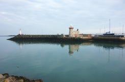 Howth hamnfyr, ståndsmässiga Dublin, Irland Arkivbilder