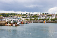 Howth harbor. Fishing boat docked in the harbor at Howth Royalty Free Stock Photography