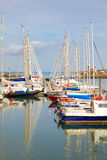 Howth harbour. Yachts in Howth harbor in summer, county Dublin, Ireland royalty free stock images