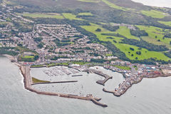 Howth Harbour, Dublin, Ireland. Seen from above Royalty Free Stock Image
