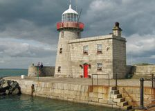 Howth Harbour Lighthouse. Stock Photos