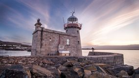 Howth Harbour Lighthouse. The Martello lighthouse at Howth Harbour in Howth, near  Dublin, Ireland Stock Photos