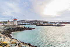 Howth lighthouse in Ireland Royalty Free Stock Photos
