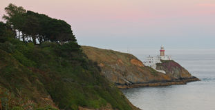 Howth peninsula lighthouse. Picture taken of the lighthouse after sunset on the Howth peninsula, Ireland Stock Photography
